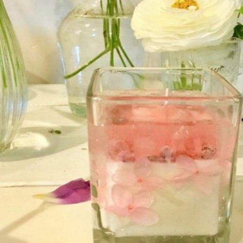 紫陽花のキャンドル