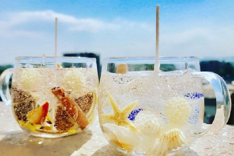 貝殻のジェルキャンドル