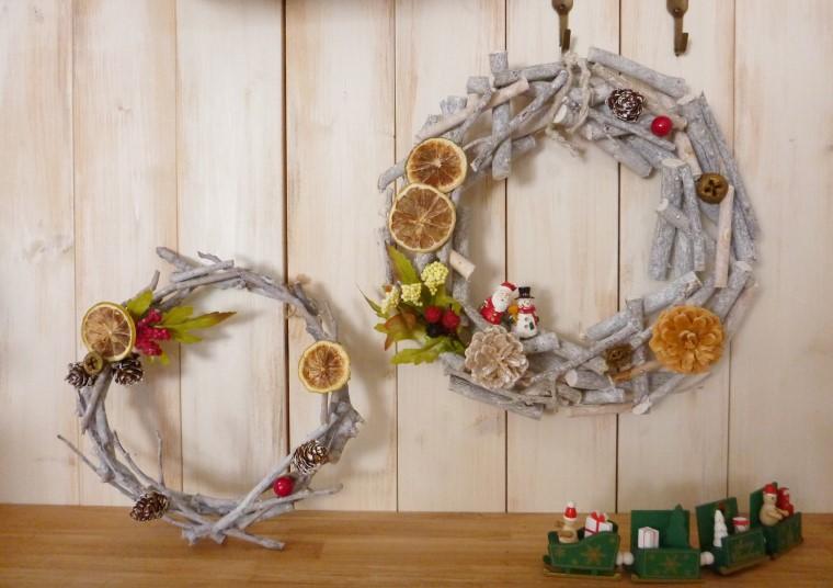 ほっこりナチュラルな木の枝のクリスマスリースの作り方 Craftie Style