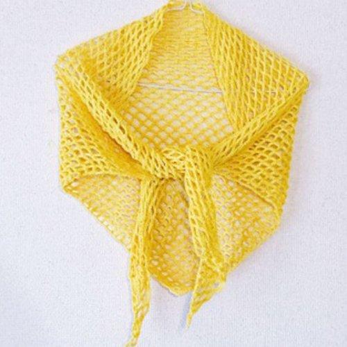 三角ストールの編み方