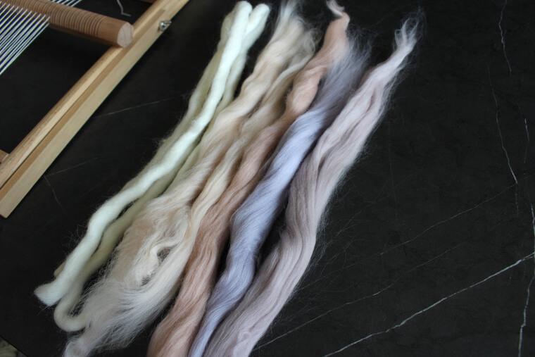 ウィービング用の羊毛