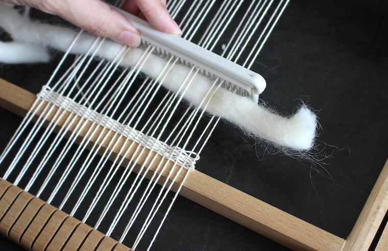 羊毛ウィービングタペストリーの作り方