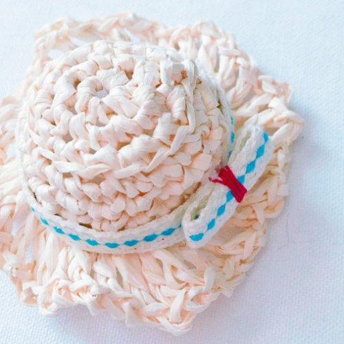 編み方紹介 麦わら帽子のモチーフ