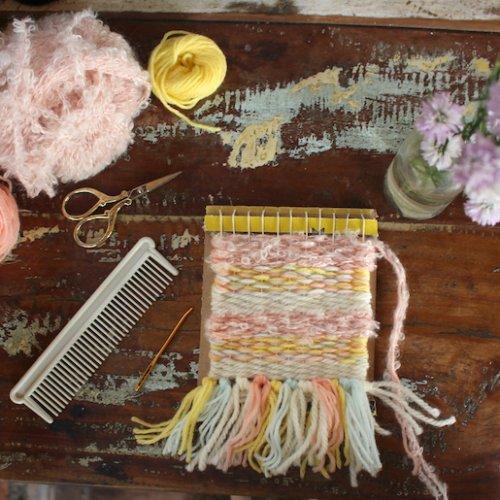 <夏休みの自由研究&工作>手織り物を作ろう!②ウィービングタペストリーの作り方
