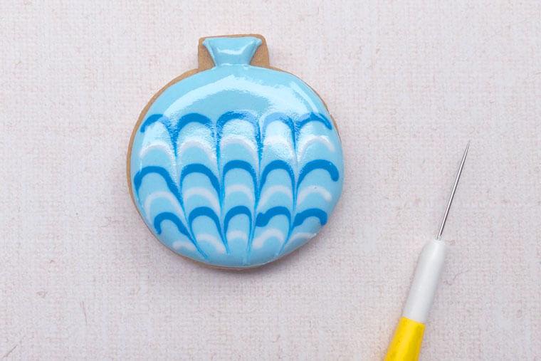 水ヨーヨーデザインのアイシングクッキーの作り方