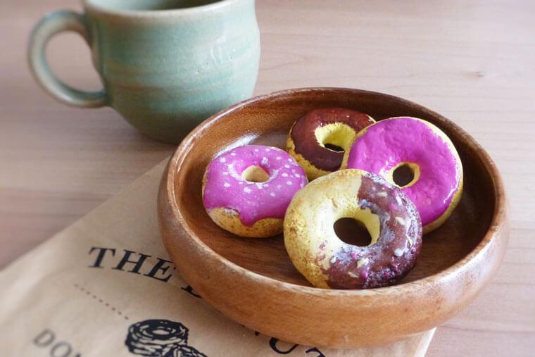 紙粘土で作るドーナツ