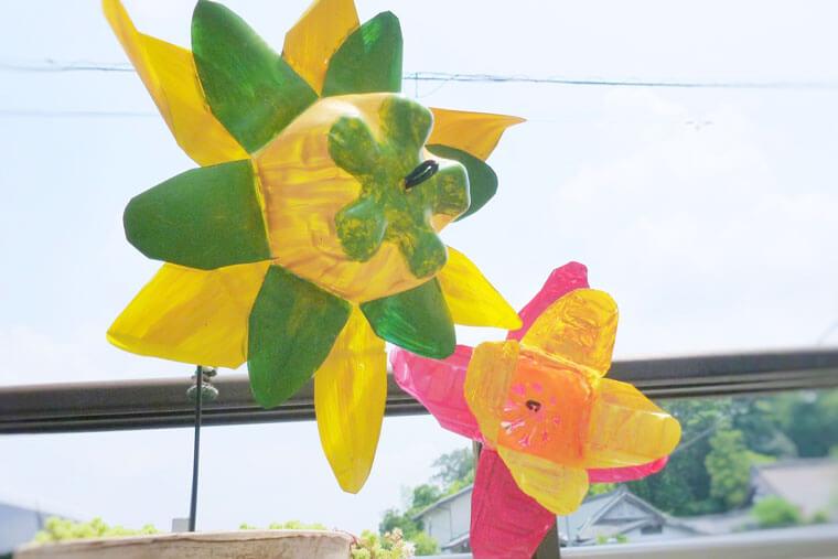 ペットボトルで作る風車の作り方