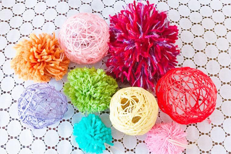 毛糸で作るクリスマスオーナメント
