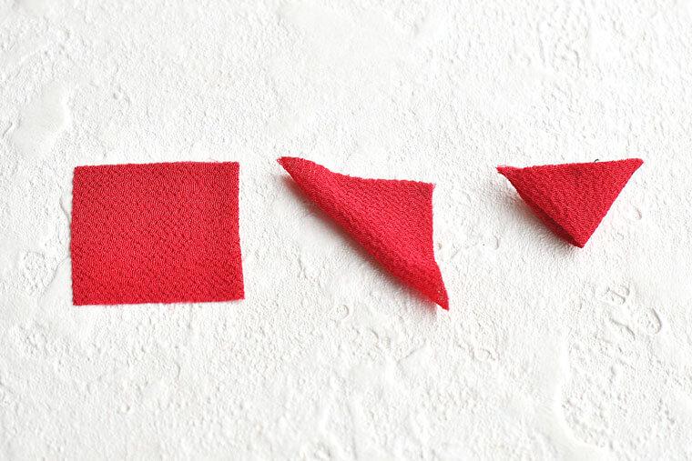 椿のつまみ細工の作り方