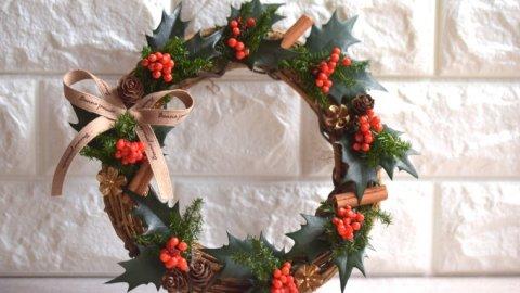 手作りのリースで迎える クリスマス