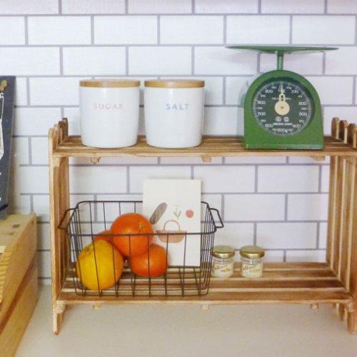 すのこを使った棚の作り方。キッチン収納用