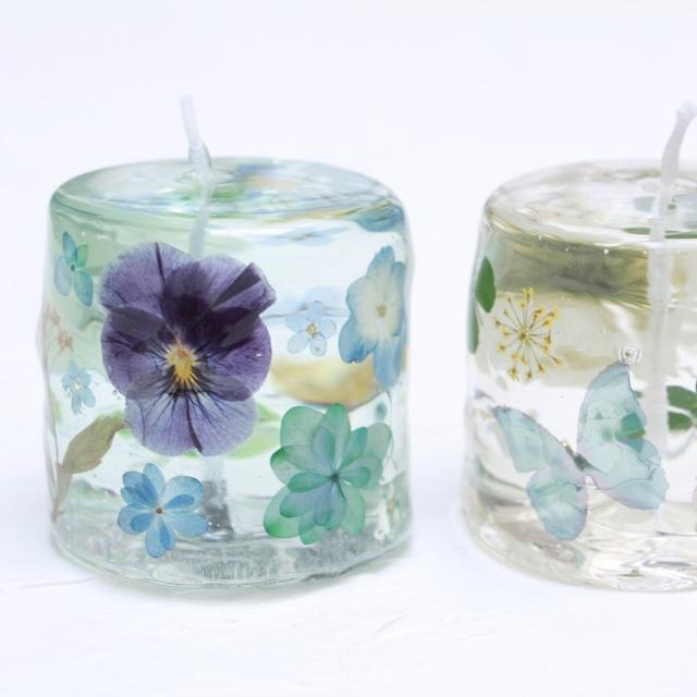 お花が透ける*花露キャンドルワークショップの写真