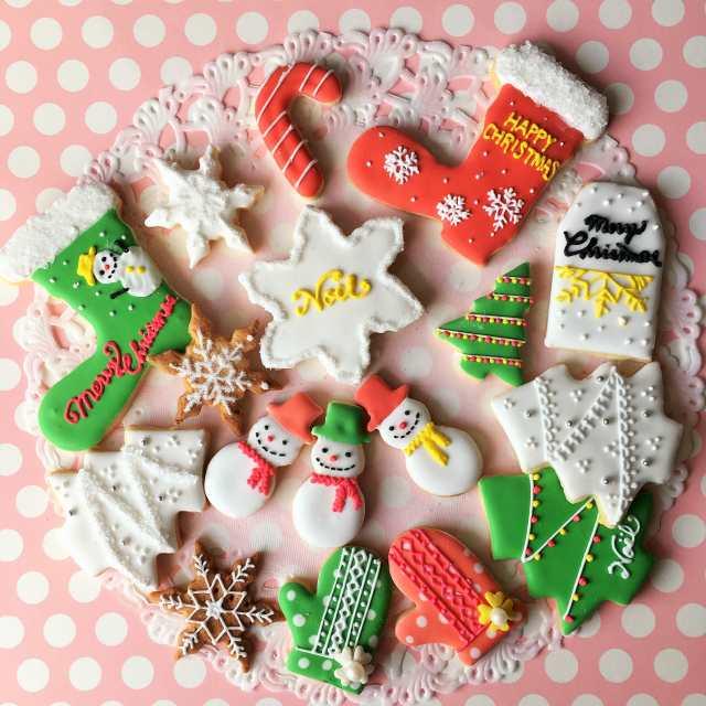 クリスマスのアイシングクッキー
